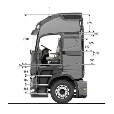 สลีปเปอร์แคปแบบต่ำของ Volvo FH16