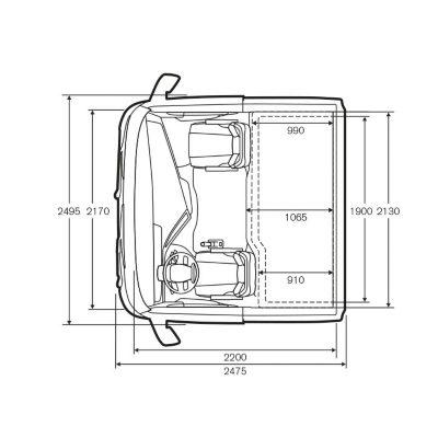 Caractéristiques techniques de la cabine Globetrotter du Volvo FH