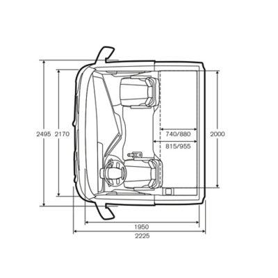 Especificações de cabinas da gama Volvo FH