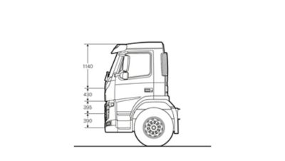 Volvo FM specifications day cab sideview