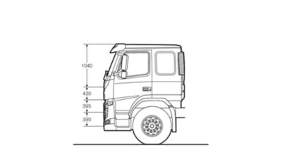 Volvo FM specifications low sleeper cab sideview