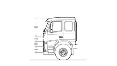 Volvo FM specifications sleeper cab sideview