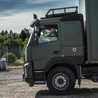 Försvarsmakten har nyligen köpt in cirka 25 Volvo FMX.