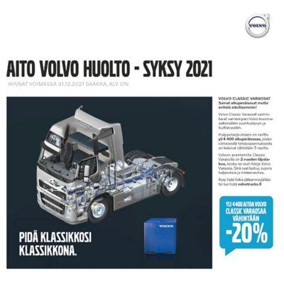 Volvo Trucks huoltotarjoukset