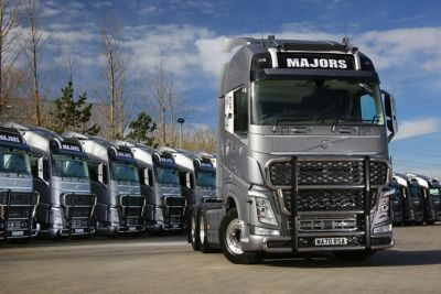 Majors Service has taken delivery of 15 Volvo FH with I-Save Unlimited Edition 6x2 trucks