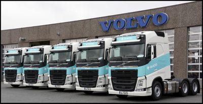 Glacio Transport i Sarpsborg har nylig fått overlevert 5 nye Volvo FH 460 trekkvogner, de 5 første av 14 nye Volvo lastebiler firmaet har bestilt.