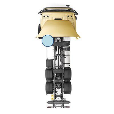 Depósitos de ar da estrutura do chassis do Volvo FM