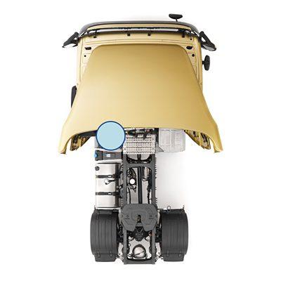Caixa das baterias da estrutura do chassis do Volvo FM