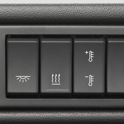 Controlo de climatização no Volvo FMX