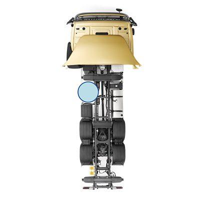 Estrutura do chassis vazia do Volvo FM