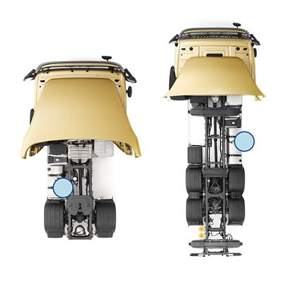 Volvo FM chassis layout fuel tanks