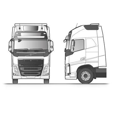 Bosquejo de la cabina Globetrotter XL del Volvo FH