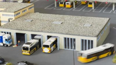 This also enables buses to park closer together, saving valuable parking space and creating greater turning radius