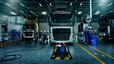 Volvo trucks about us quality workshop pit