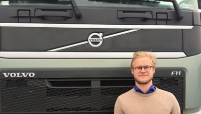 Oscar Rydholm, graduate from the Volvo Group engineer program