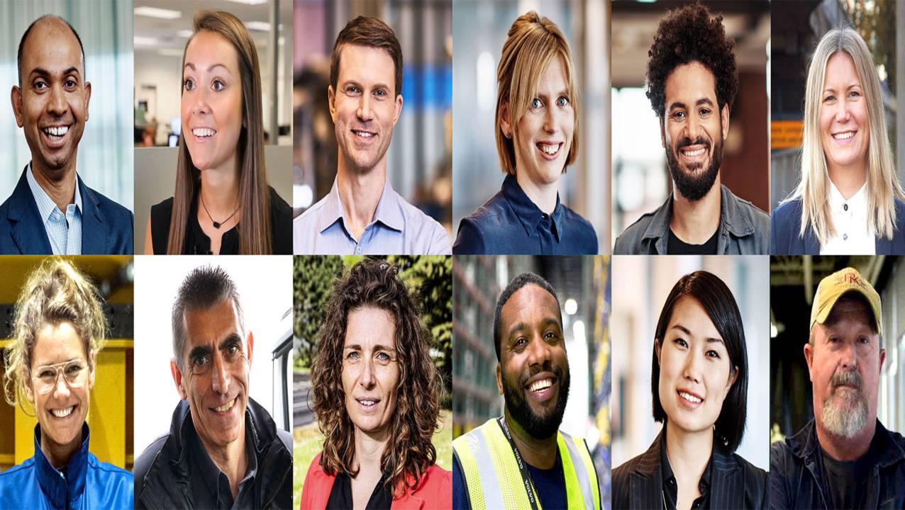 Collage med närbilder av medarbetare