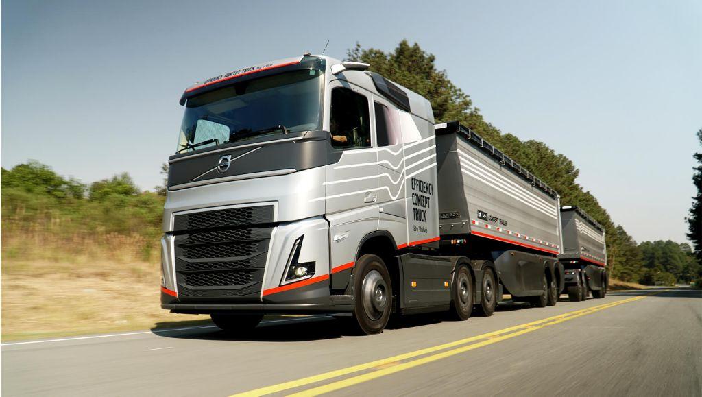 A Volvo surpreende ao apresentar um avançado caminhão-conceito, com uma série de novas tecnologias. Dirigido para o transporte de grãos, o veículo, um Volvo FH 6x4 rodotrem é um exemplar único, desenvolvido pela engenharia brasileira e mundial da marca.