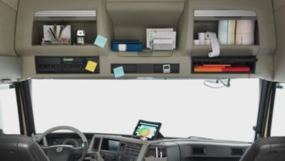 Lots of storage possibilities in the new Volvo FM