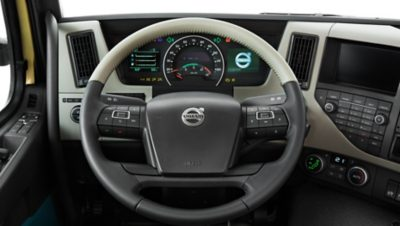 The new dashboard of the Volvo FM