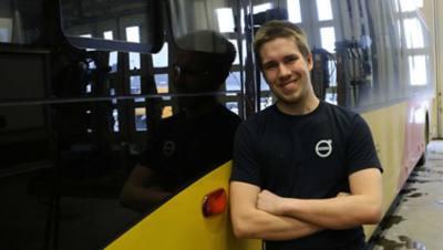 Filip Nilsson, Bus Key Technician på Finnvedens Lastvagnar.