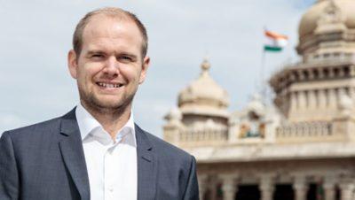Andreas Roupé vid Volvokoncernen flyttade till Bangalore för att få en internationell upplevelse