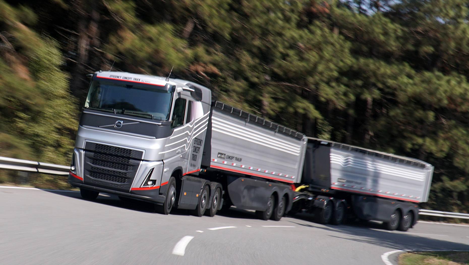 O caminhão graneleiro do futuro, criado no Brasil pela Volvo, antecipa também novos conceitos em implementos, sistemas hidráulicos e pneus.