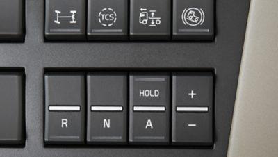 I-Shift se puede controlar desde un panel de cuatro interruptores en el tablero de ins