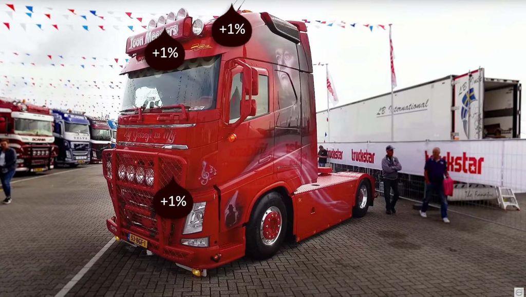 """Ondanks de esthetische waarde (""""Het oog wil ook wat""""), kunnen accessoires hogere brandstofkosten voor trucks opleveren."""