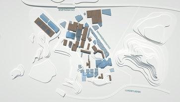Campus Lundby från ovan