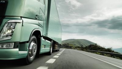 Volvo trucks managing dynafleet positioning FH driving on road