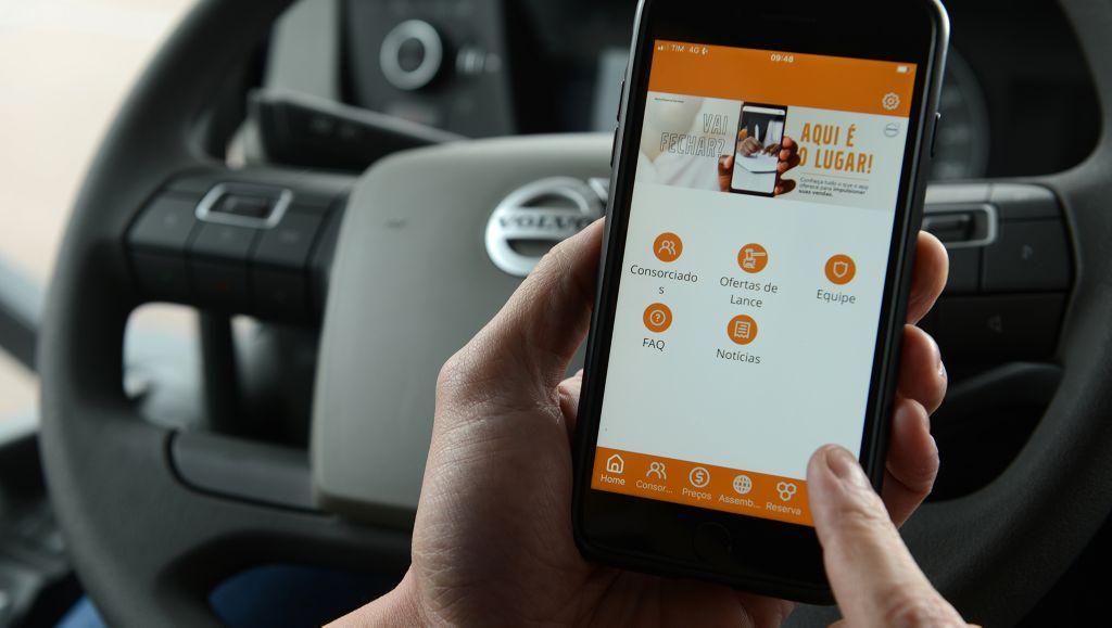 Consórcio Volvo lança novo APP, com funções inéditas e mais facilidades