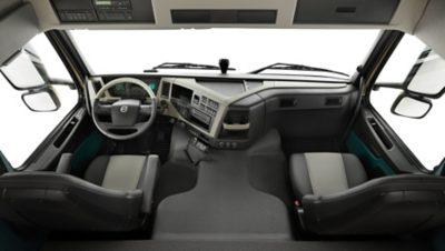 สภาพแวดล้อมสำหรับผู้ขับขี่ที่เหมาะสมที่สุดของ Volvo FM ใหม่