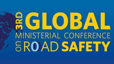 Logo de la conférence ministérielle mondiale sur la sécurité routière