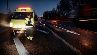 Volvo Action Service: disponible con solo presionar un botón