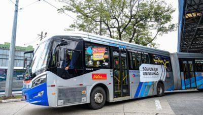 Volvo bus in Sao Paulo, Brazil