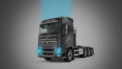 Camião Volvo ligado via Gateway de Telemetria