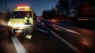 O botão Volvo Action Service