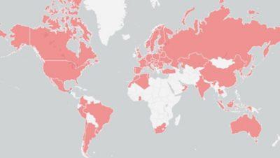 Pays où des formations de la Volvo Group University ont été suivies au cours des 12derniers mois