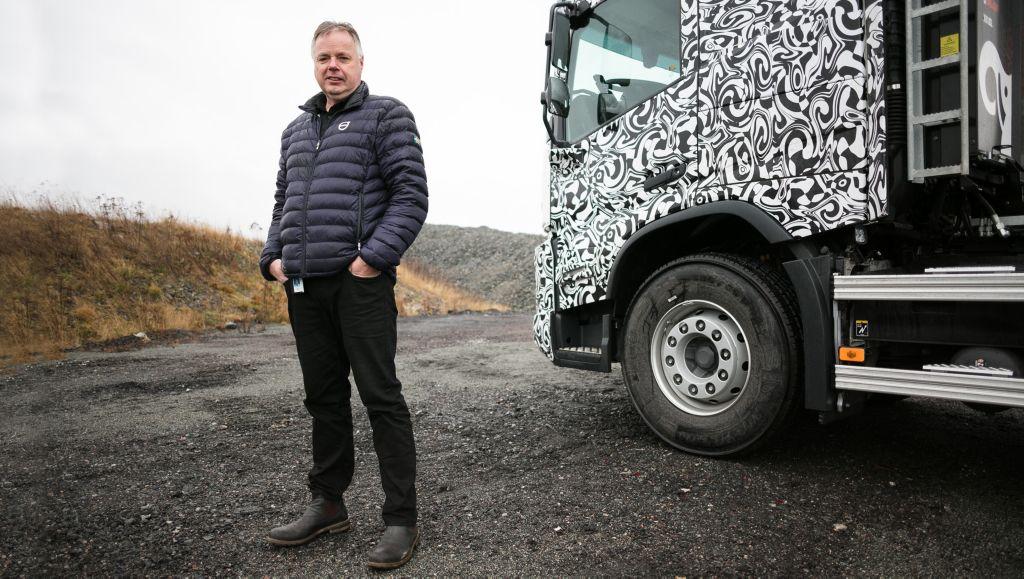Tomas Sandblom, fältprovsingenjör på Volvo Lastvagnar.
