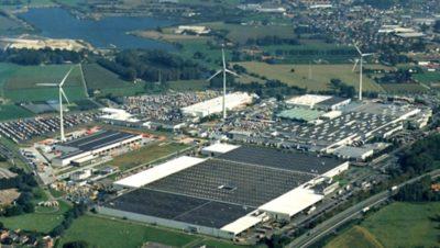 比利时根特工厂安装了3台风力发电机