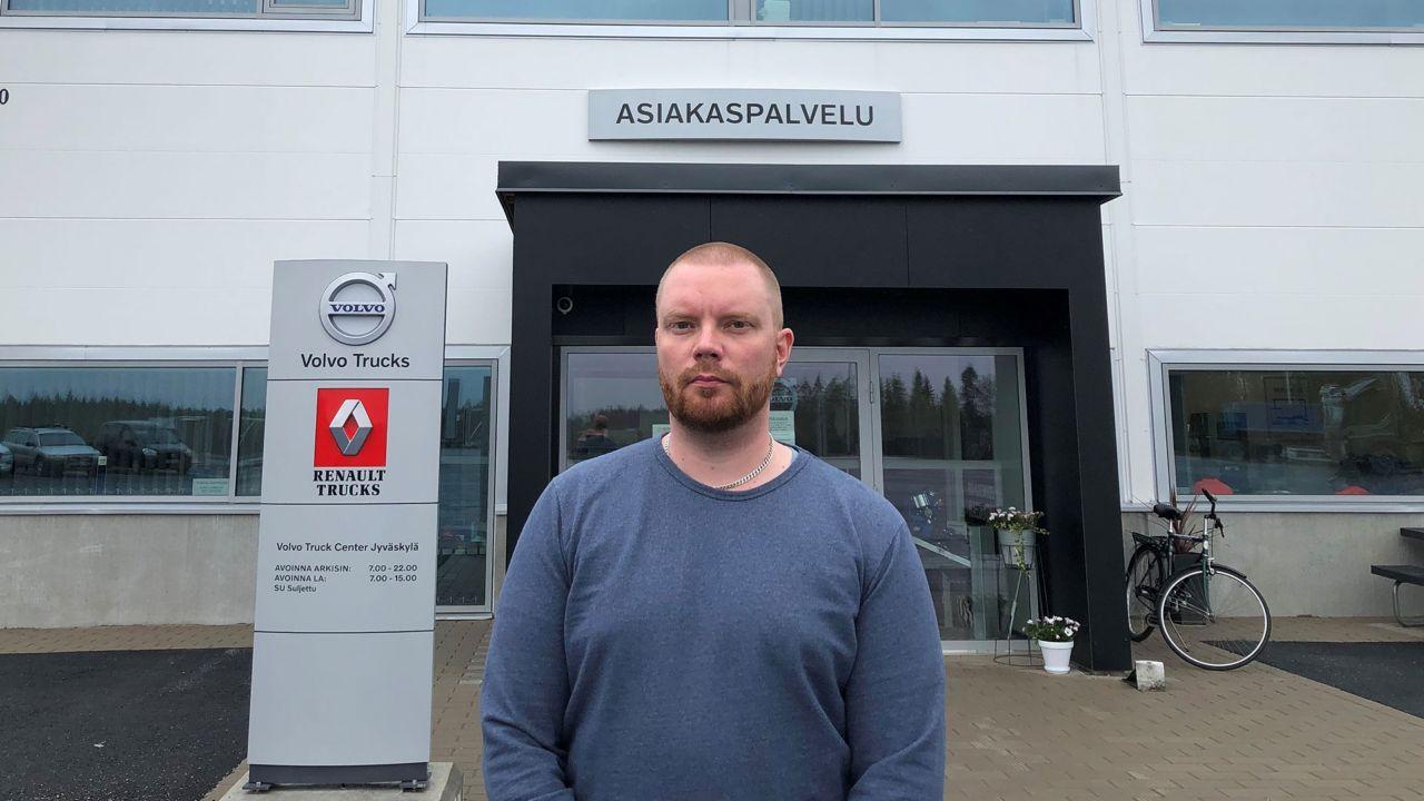 Tero Eskelinen on Volvo Truck Center Jyväskylän uusi huoltopäällikkö