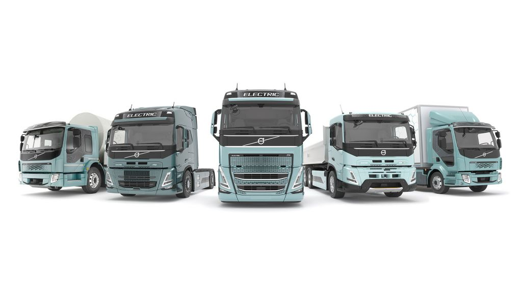 Complete reeks elektrische Volvo-trucks in Europa in 2021