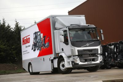 The new FL 4x2 rigid joins three other Volvo trucks in Hako Machines' fleet