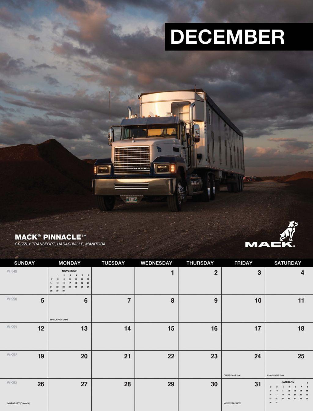 Mack Trucks Announces Entry Period for 2022 Mack Calendar Contest
