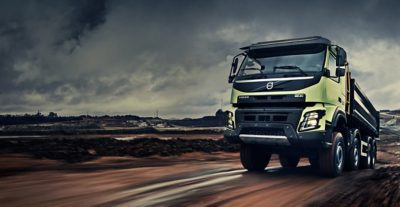 Volvo FMX chassis grey sky