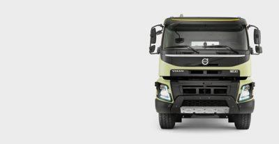 Lugar de trabajo con potencia del Volvo FMX