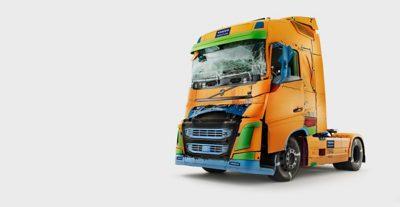 Estúdio de colisões para testar a segurança Volvo FH