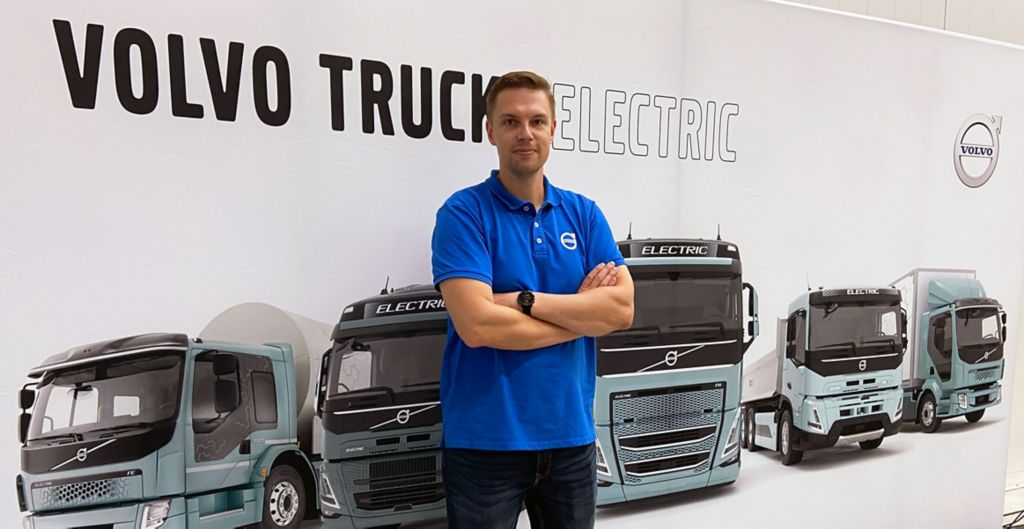 Janne Silvonen on Volvo Trucksin Commercial and Technical Manager Electromobility.