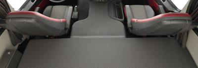Une couchette inférieure spacieuse