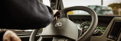 Volvo FM I-shift one hand steering wheel